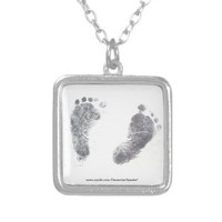 Foot prints pendants from Zazzle.com
