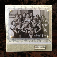 Bridesmaids Frame - 6x6 Base with 3.5x5 Horizontal Photo - Wall or Tabletop Decor - READY TO SHIP