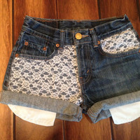 Levi High Waisted Lace Shorts