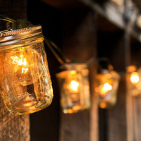 Mason Jar Strand with Lights