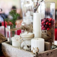 easy DIY centerpeice idea for winter wedding