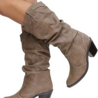 Soda Women LODE-H boots Taupe SRPU 6.5