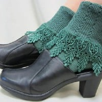 SLC2-Signature Lace Sock Hunter green