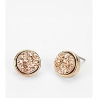 Druzy Stone Earring- Gold One Size- Gold One
