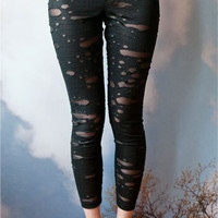 Black Burnout Leggings