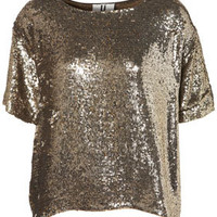 **Sequin Tee by Unique - Tops  - Apparel