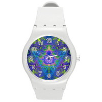 Sacred Geometry Lotus Rave watch - wrist sports trippy hippie burner-psychedelic geek 3 Colors