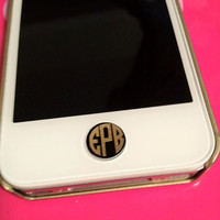 Set of 4-Iphone/Ipad Button Decals & Monograms
