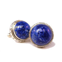 Above the Earth Cufflinks Lapis and Sterling Silver-DD-I17-03000