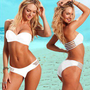 Hot Sexy Lady/Woman 2pcs Cut Out Bandeau Bikini Paded Push Up Swimwear Swimsuit