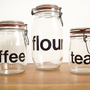 French Typography Jars Set of 3 by tatterandfray on Etsy
