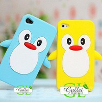 iPhone 4S 4G Penguin Silicon Protective Skin Casing - Apple iPhone Cases - Phone Cases Rhinestones iPhone 5 4S 3GS Cases, Couple Necklaces / Wedding Rings &amp; Uncommon Gift Ideas - Worldwide Shipping