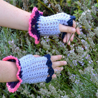 Crochet Gloves Based on Twilight Sparkle