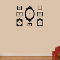 Wall Decal - Victorian Frame Decals - vinyl wall art stickers