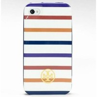 Amazon.com: Tory Burch Iphone 4 &amp; 4s Hard Shell Case Cover White Stripe New in Box: Cell Phones &amp; Accessories