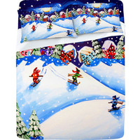 DENY Designs Home Accessories | Renie Britenbucher Skiers Sheet Set
