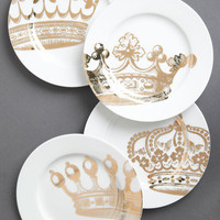 Emily's Fête for a Queen Plate Set | Mod Retro Vintage Kitchen | ModCloth.com
