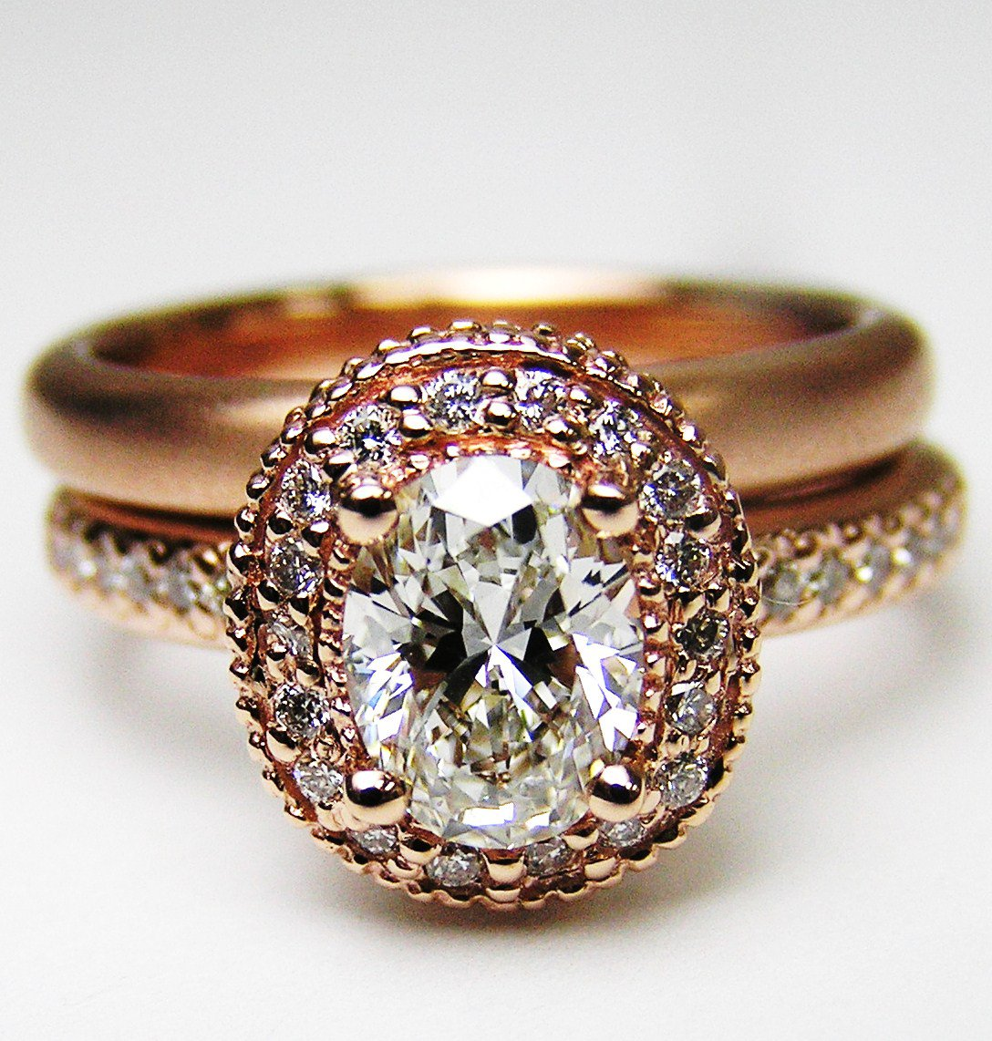 Rose Gold Engagement Rings Rose Gold Engagement Rings With Oval Diamond