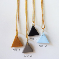 triangle pendant necklace by amerrymishap on Etsy