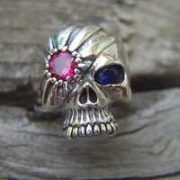Vampire skull ring in sterling silver by Billyrebs on Etsy