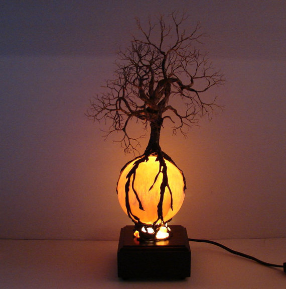 Wire Tree Of Life Ancient Spirit sculpture Autumn by CrowsFeathers