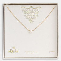 Dogeared 'Pearls of...' Boxed Pendant Necklace