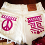 Painted Tribal Shorts
