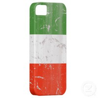 Vintage rustic Italian flag iPhone 5 Cover from Zazzle.com