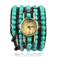 Handmade Turquoise Beads Wrap Watch on Luulla