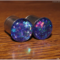 Purple Plum Shard Plugs - 0g, 00g, 7/16