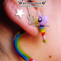 Lady Rainicorn adventure time stud earring fake plug