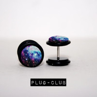 Star Bright Galaxy Fake Plugs by Plug-Club