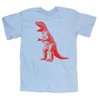 Mens DINOSAUR T Shirt  S, M, L, XL, XXL blue big bang theory sheldon