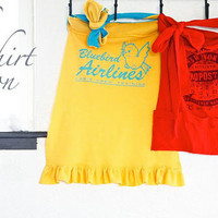 ~Ruffles And Stuff~: Double Apron Day: Easy T-shirt Aprons!