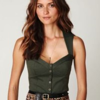 Free People FP New Romantics Globetrotter Corset Cami 