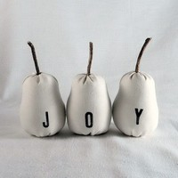 White wedding decor Joy Pears listing for 3 sets or 9 by lapomme