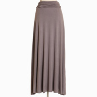 Livin' the simple life maxi skirt in gray