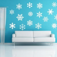 Snow Flakes Removeable Vinyl Wall Decals 22234