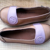 SALE UK 4 Handmade leather shoes D fitting Fudge Old by fairysteps