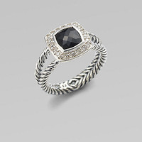 David Yurman - Diamond, Black Onyx & Sterling Silver Ring