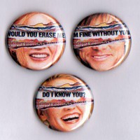 Eternal Sunshine Pinback Button Set of 3
