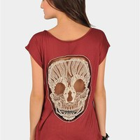 Skull Back Top - Wine at Necessary Clothing