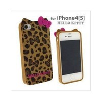 Amazon.com: Hello Kitty Leopard & bow case for Apple Iphone 4 4gs -- Yellow: Cell Phones & Accessories