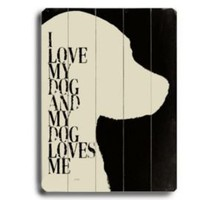One Kings Lane - ArteHouse - My Dog Loves Me (White Dog)