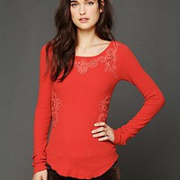 Free People FPX Soutache Waffle Scoop Thermal