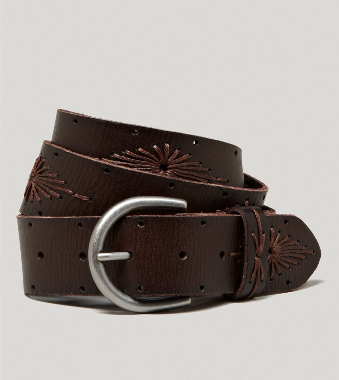 aeo embroidered leather belt american from american eagle