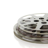 Vintage Movie Film Reels, set of 3