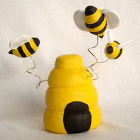 Bee Hive Baby Shower Topper, Honey Bee Birthday Cake Topper