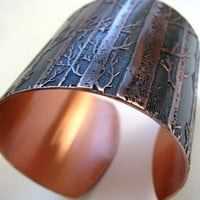 Copper Tree Cuff by metallist on Etsy