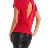 Open Back Lurex Dolman Sweater: Charlotte Russe